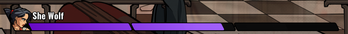A Phase 2 Life Bar That Belongs to The She Wolf